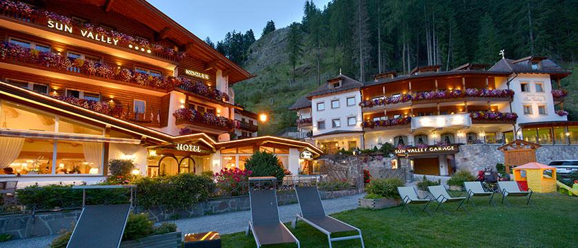 Hotel Sun Valley, Selva, Italy - exterior at dusk.jpg